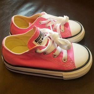 New Baby Girl Toddler Converse All Stars Pink 7